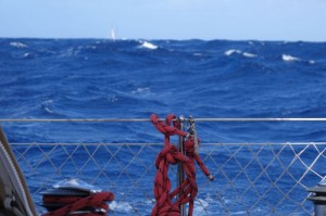 Seas started to mount, but at least we had good winds to sail as our engine died again, the fourth time...